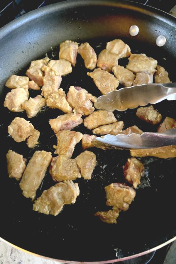 pork tenderloin chunks