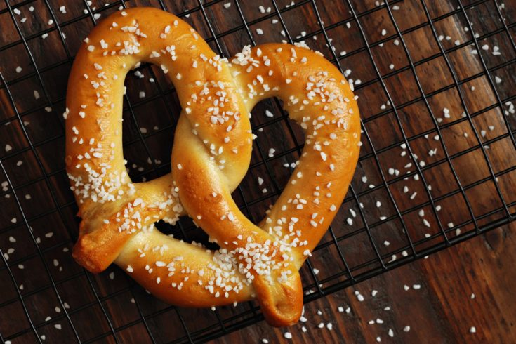 homemade soft pretzel