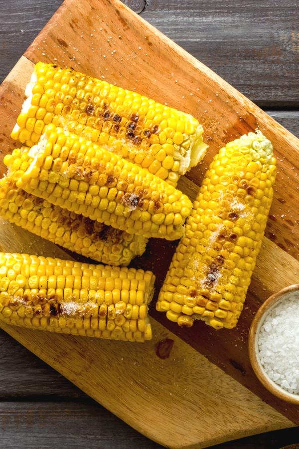 lightly brown corn
