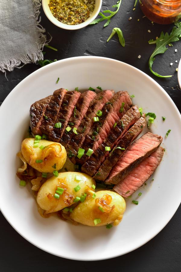 steak in an air fryer