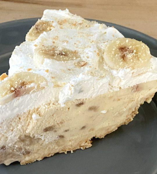 banana cream ice cream pie