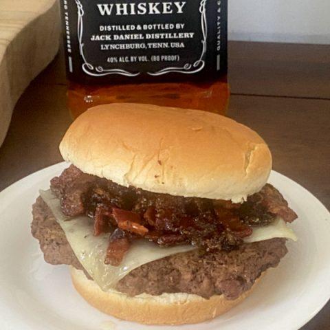 Whiskey Bacon Cheeseburger
