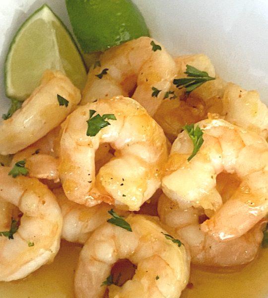 garlic honey lime shrimp