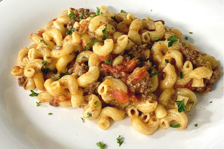 instant pot cheesy taco pasta