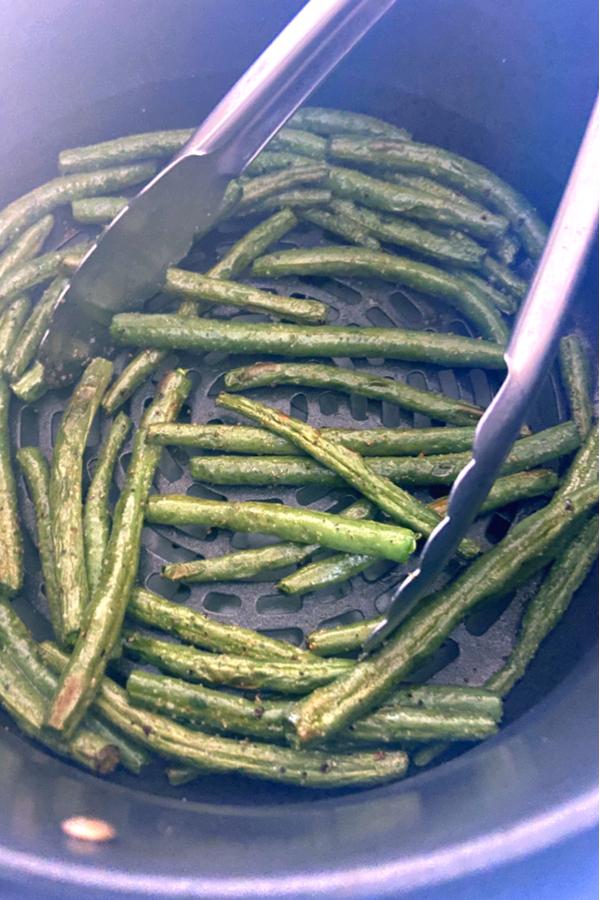 flipping green beans