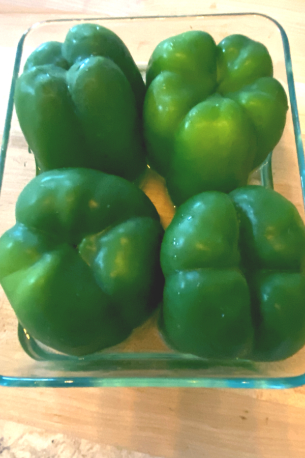 green peppers upside down