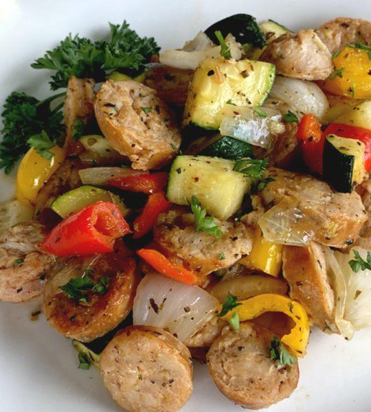 skillet sausage & zucchini