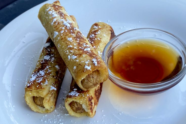 french toast sausage roll up