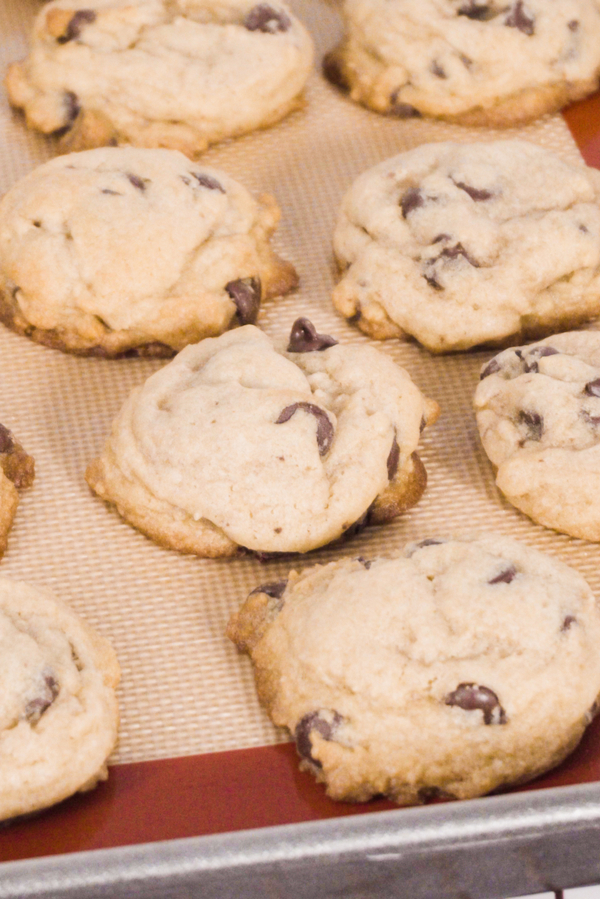 chocolate chip cookies baked